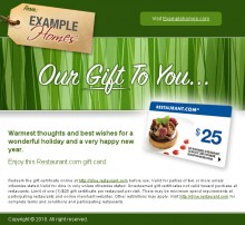Green Gift Card Style