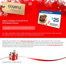 Red Gift Card Style